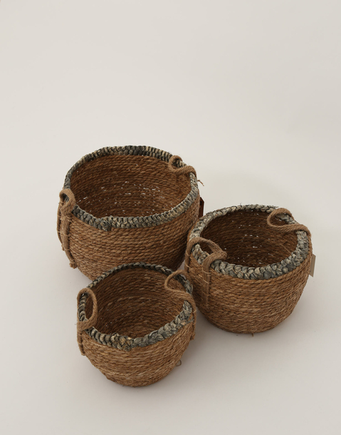 braided basket l