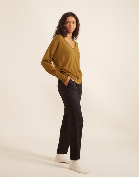 pantalón costura vertical tencel