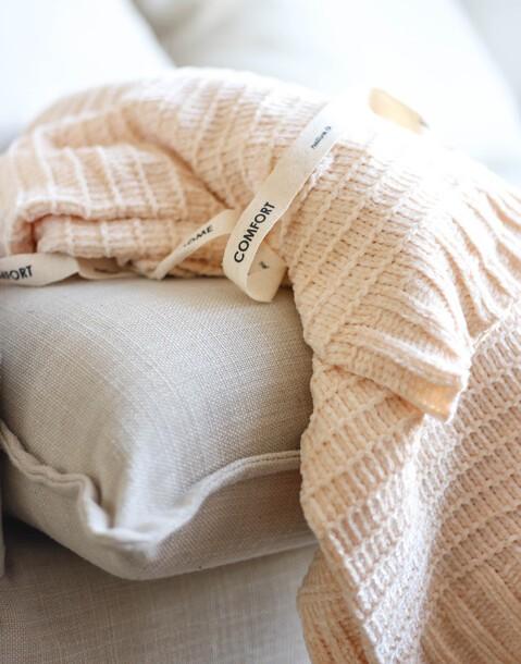 coperta ciniglia righe