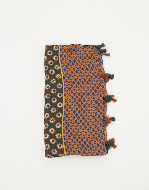pompoms scarf