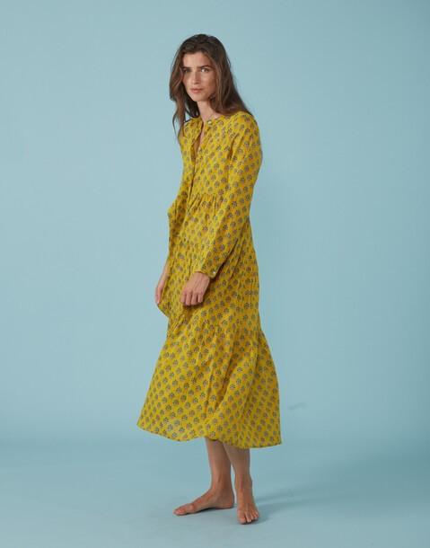 robe longue à motifs