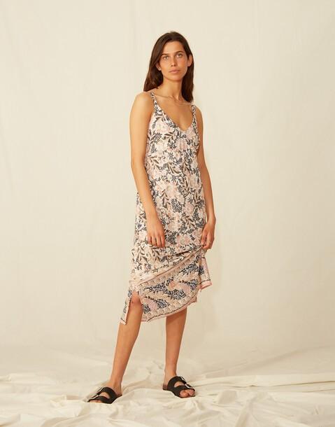 robe longue imprimé bretelles