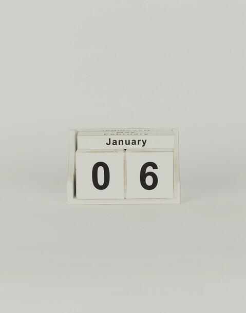 calendario taco madera