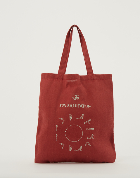 linen tote bag with print