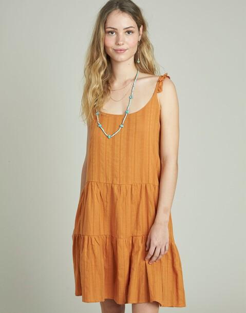 dobby short strap dress