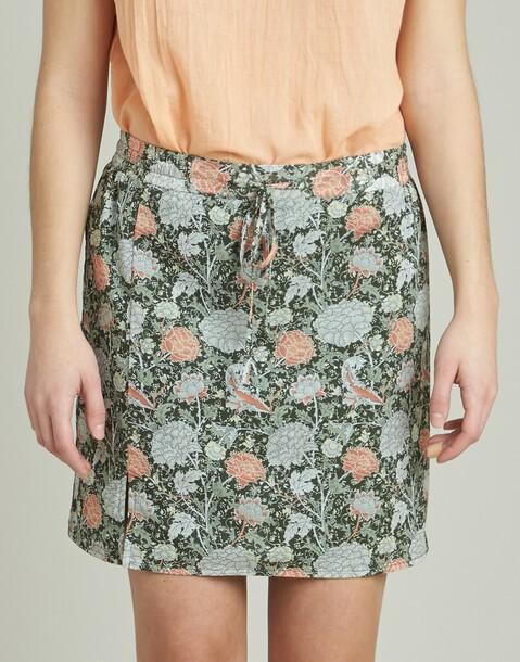 falda corta print floral