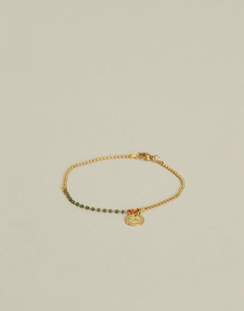 bracelet chaîne japonais avec médaille