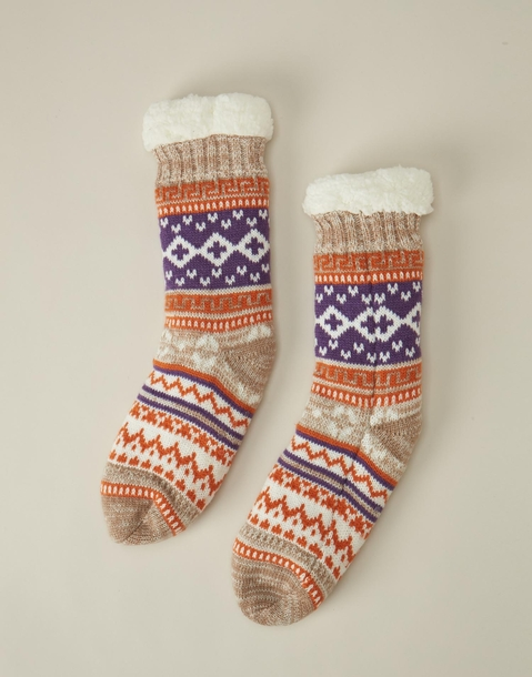 geometric slipper sock