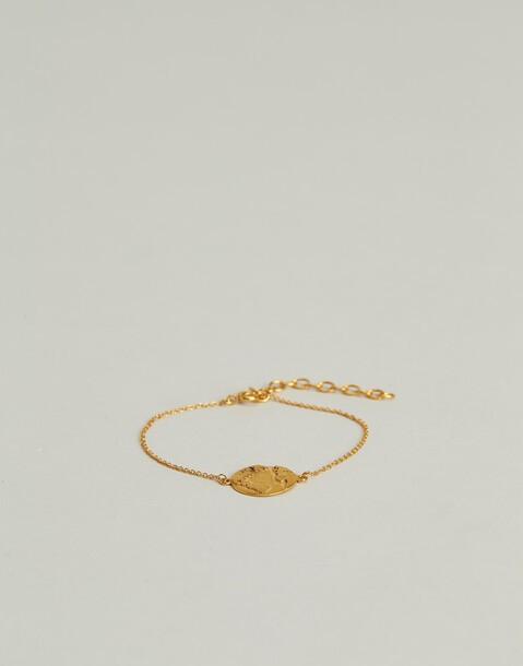 gilded world pendant bracelet