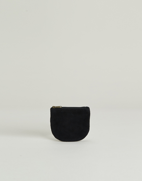 half moon shape suede coin purse