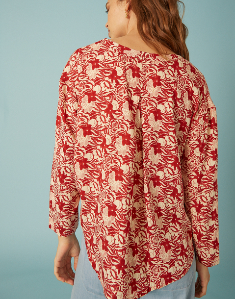 blouse large fleur