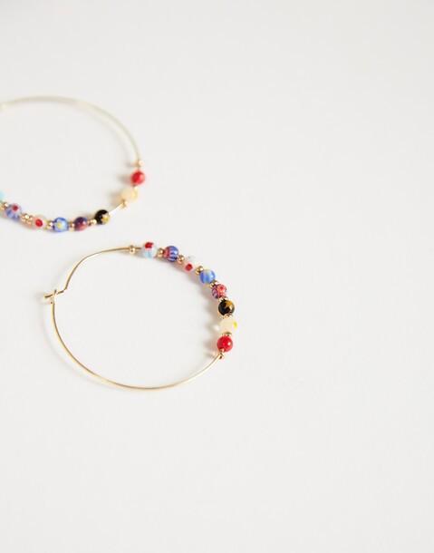 multibeads hoop earrings