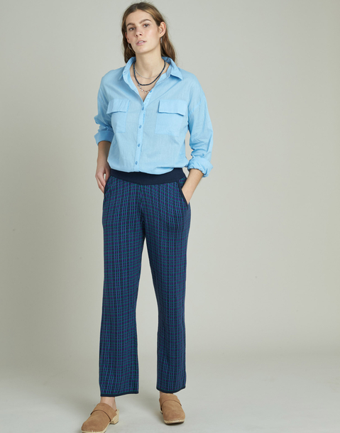 tricot plaid pants