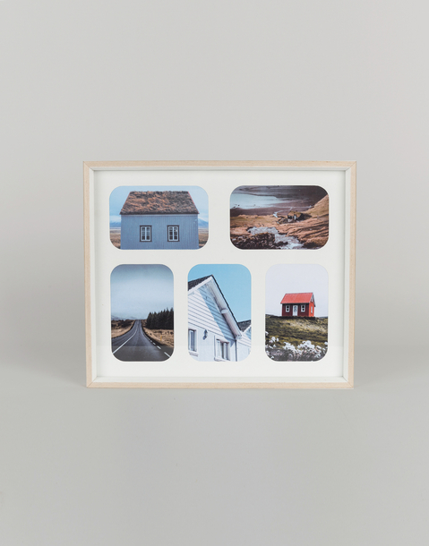 5 photo basic wood frame