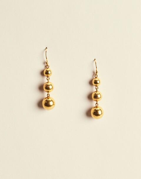 large golden ball earrings