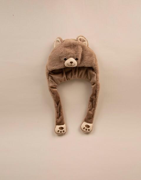 teddy scarf hoodie