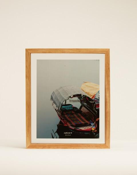 cadre en bois et en verre 20x25