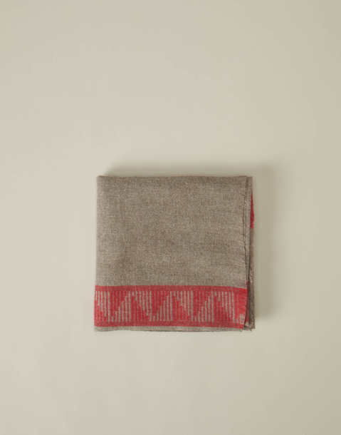 recycled contrasting border foulard
