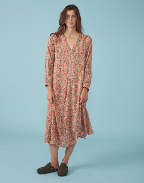 robe midi paisley