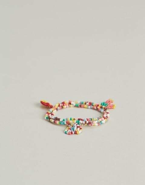 pulsera de cuentas multicolor