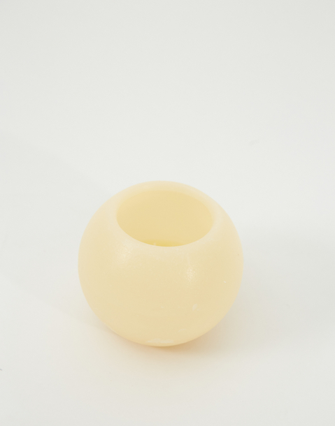 small spherical candle
