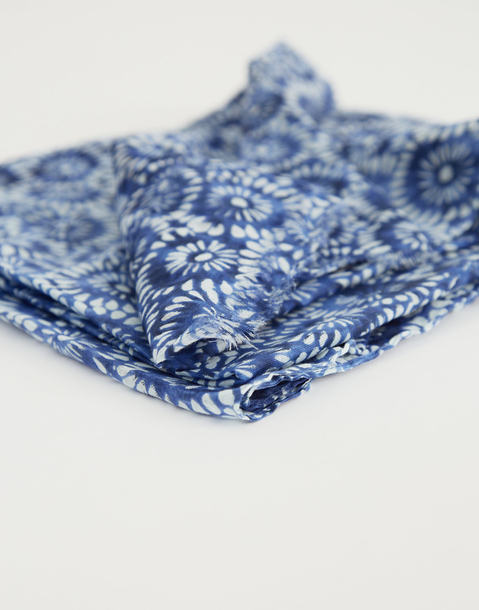cotton mosaic foulard