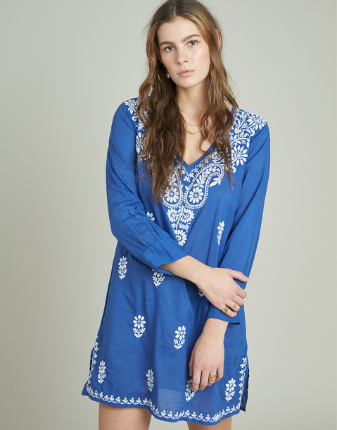 side slits embroidered tunic