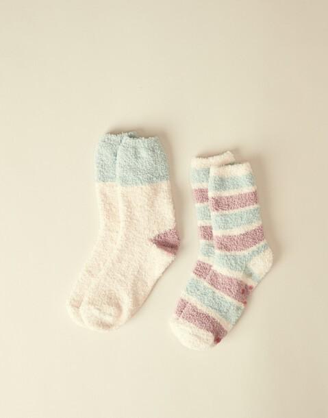 anti-slip fleece socks 2-pack