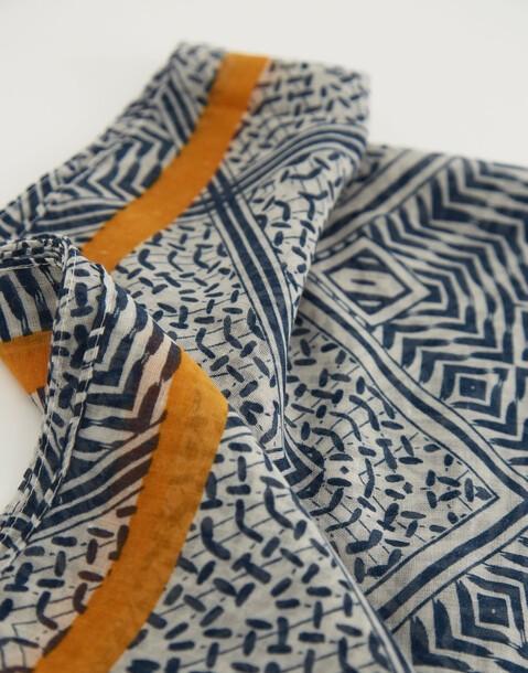 foulard rayure contraste