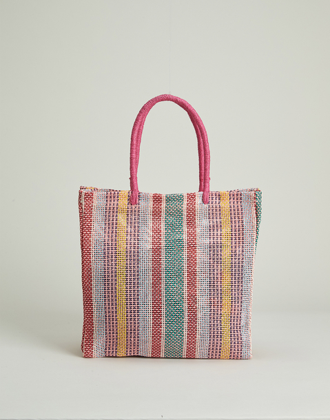 multicolored paper bag