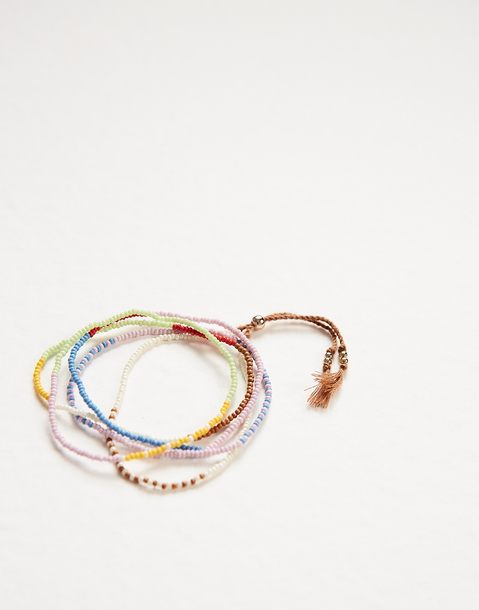 set pulseras multicolor beads