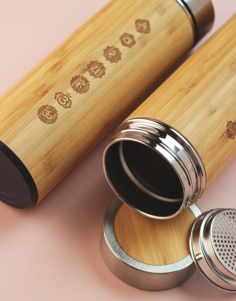 chakras bamboo bottle