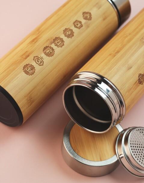 botella bambú chakras