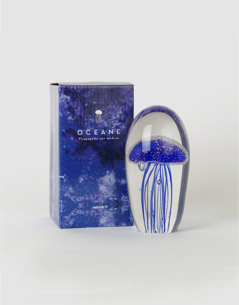 blue jellyfish paperweight