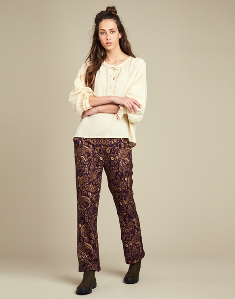 cashmere printed pant