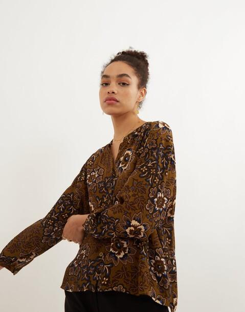 blouse imprimée fleur batik