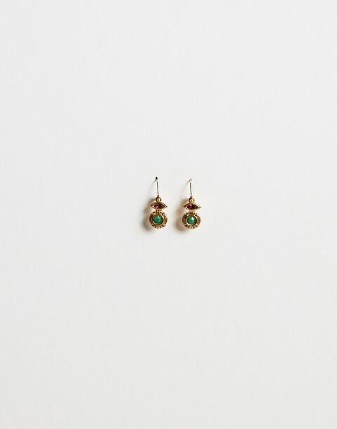 boucles d'oreilles indiennes deux pierres