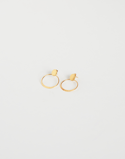 gold plated round earring
