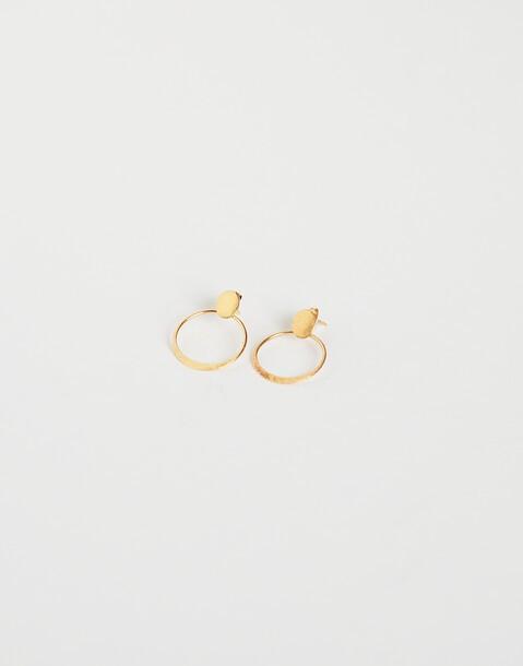 boucles d'oreilles médaillon dorées