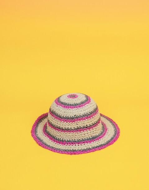 multicolor striped bucket hat