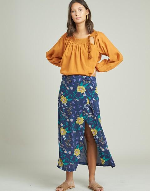 falda flor pincel