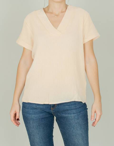 cotton v-neck shirt