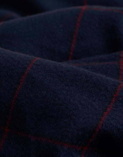 plaid navy blanket scarf