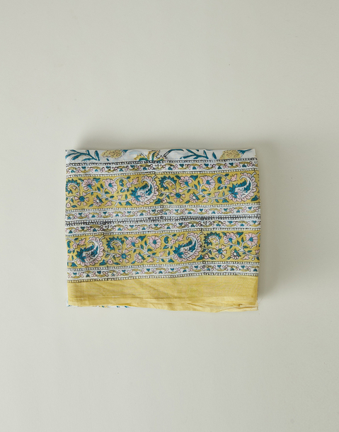 indian print and double trimming foulard