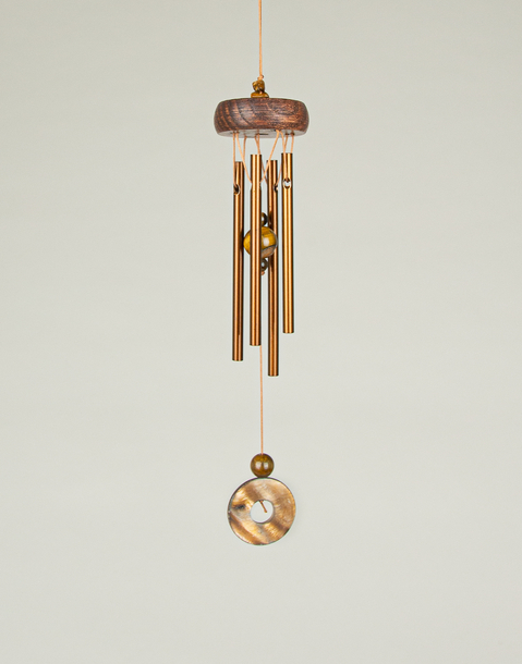 bronze wind chime tiger's eye