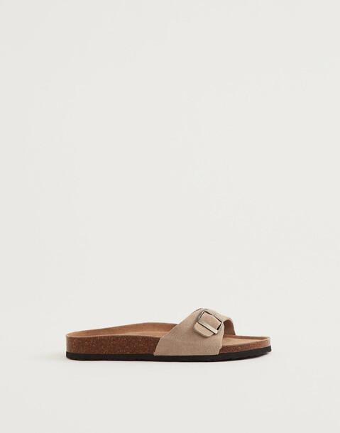 ergonomische sandale mit oberleder