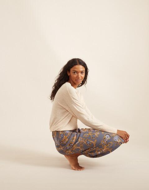 falda midi estampado claveles