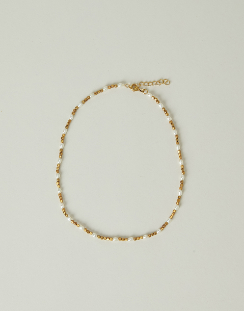 gilded pearl necklace