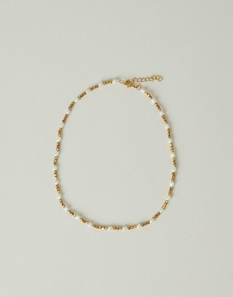 collier perles doré