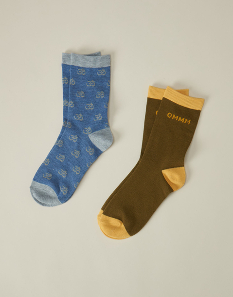 set 2 calcetines allover & omm